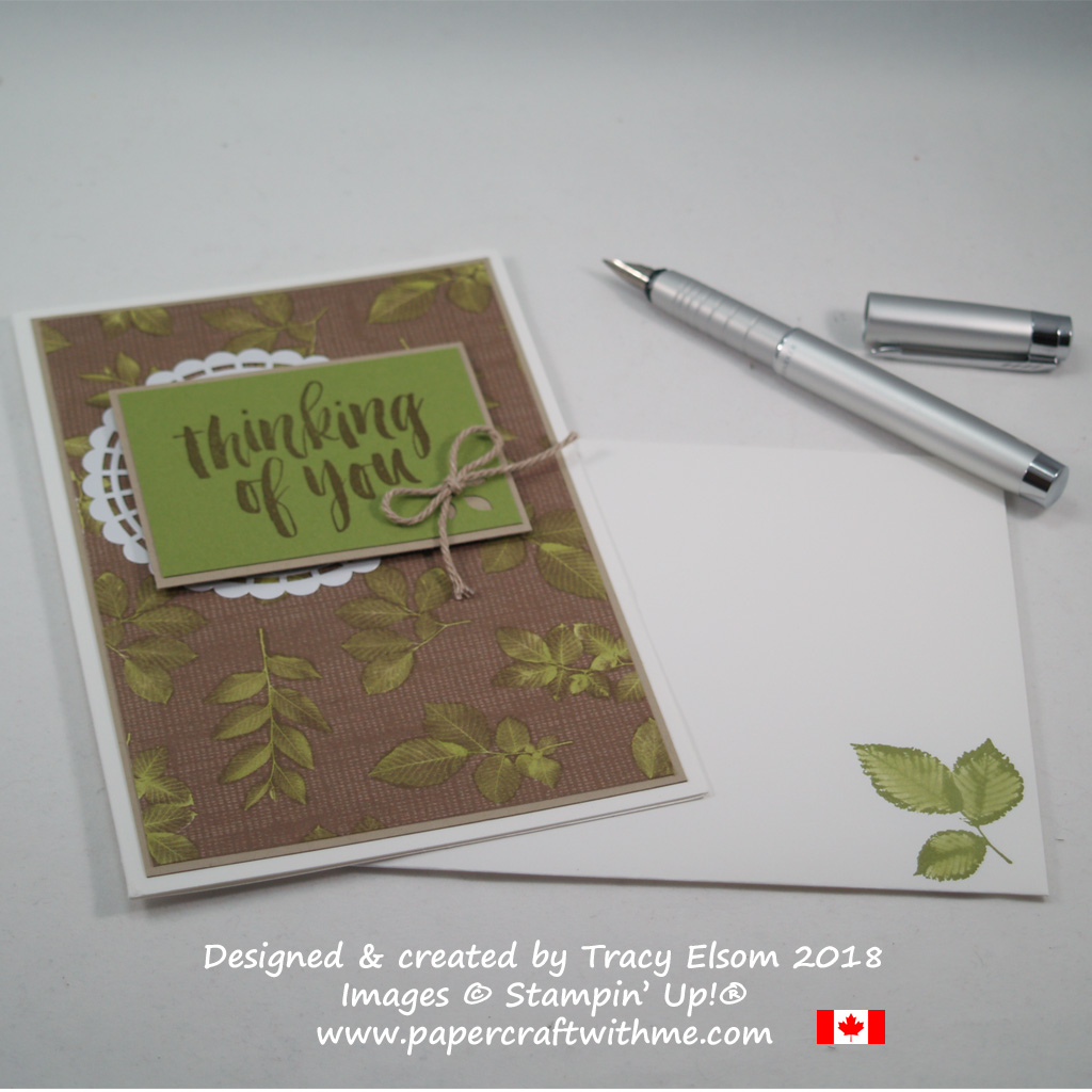 Thinking of you card created using the Rooted in Nature Stamp Set and Nature's Poem Designer Series Paper from Stampin' Up!
