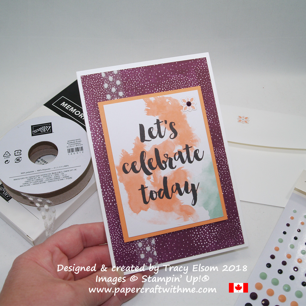 Quick and easy card created using cards from the Delightfully Detailed Memories & More Card Pack from Stampin' Up!