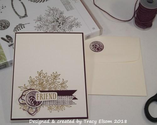 1487 Golden Friend Card