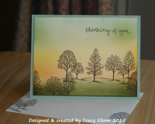 580 Sunset and Trees Card