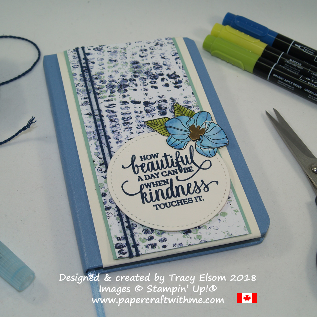 Notebook decorated using images from Climbing Orchid and Enjoy Life Stamp Sets from Stampin' Up! www.papercraftwithme.com