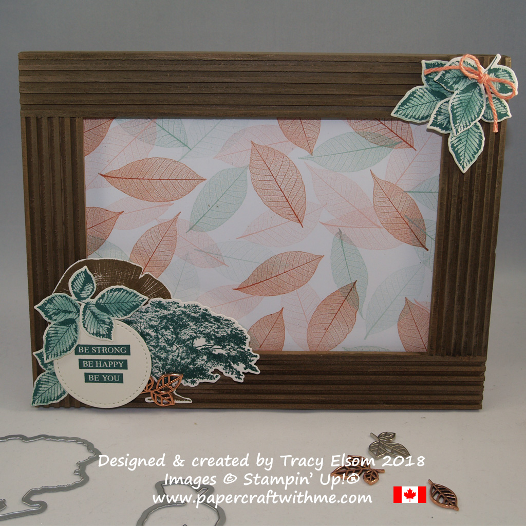 Photo frame created using the Rooted in Nature Stamp Set and Nature's Roots Framelits Des from Stampin' Up!
