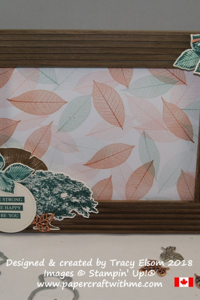 Photo frame created using the Rooted in Nature Stamp Set and Nature's Roots Framelits Dies from Stampin' Up!