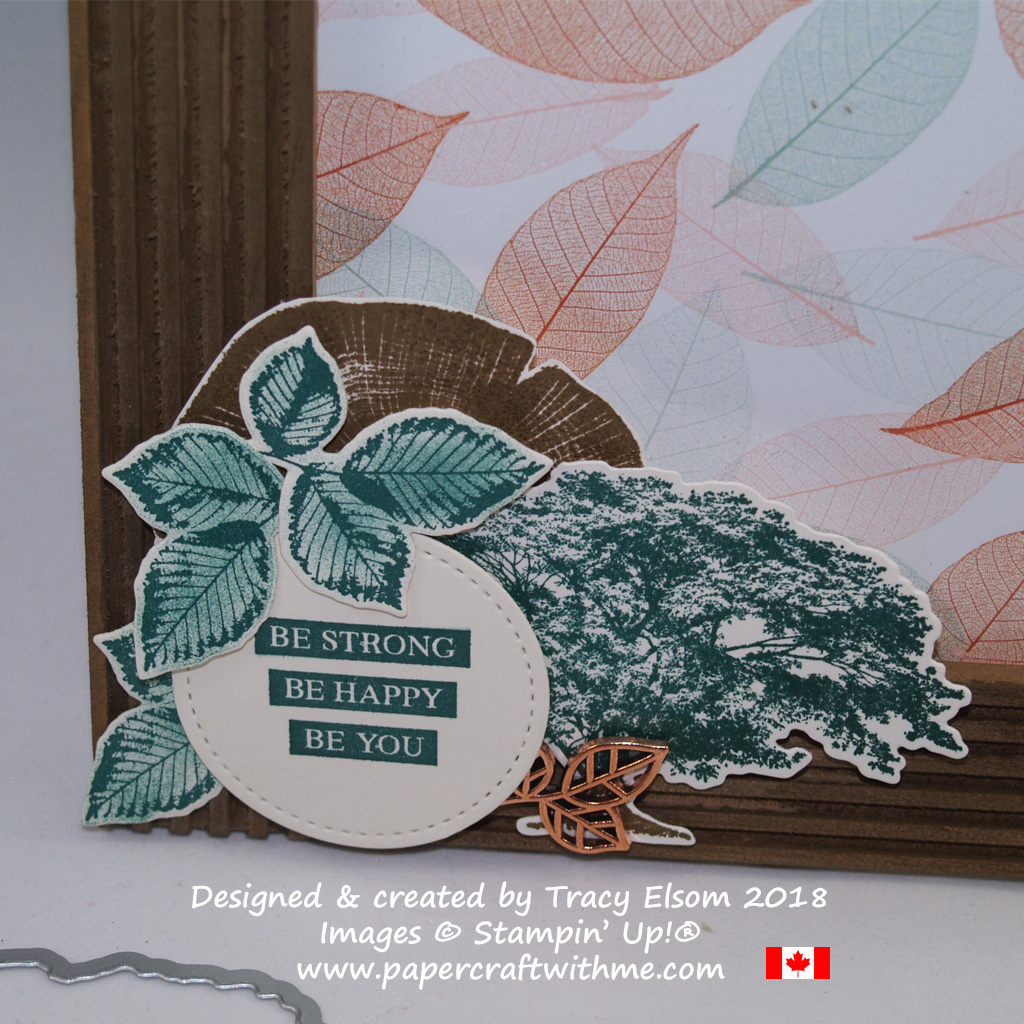 Large corner embellishment created for a photo frame using the Rooted in Nature Stamp Set and Nature's Roots Framelits Dies from Stampin' Up!