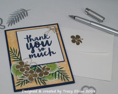 1502 Tropical Thank You Card