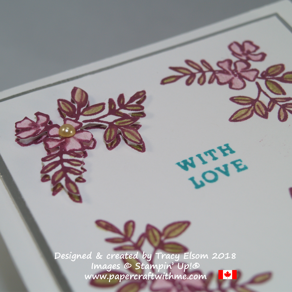 Close up of with love gift tag created using the Make a Difference Stamp Set from Stampin' Up!