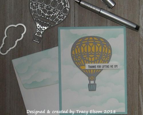 1513 Hot Air Balloon Thank You Card