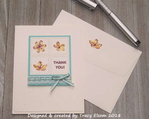 1521 Thread Ribbon Thank You Card