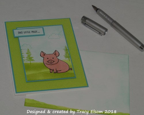1525 Piggy Thanks Card