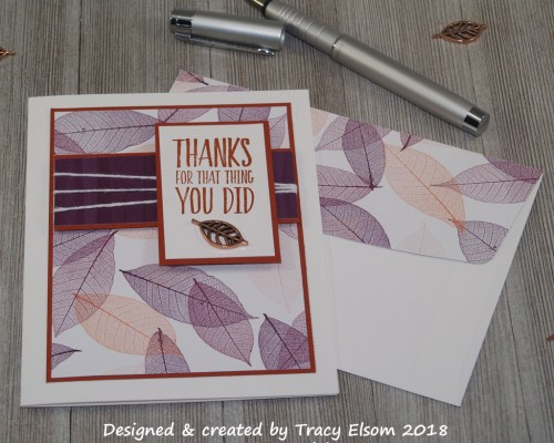 1528 Copper Thanks Card