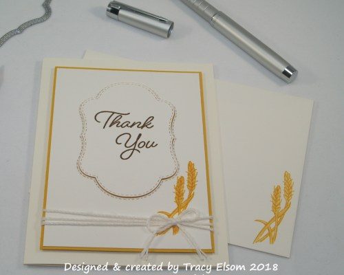 1534 Wheat Thank You Card
