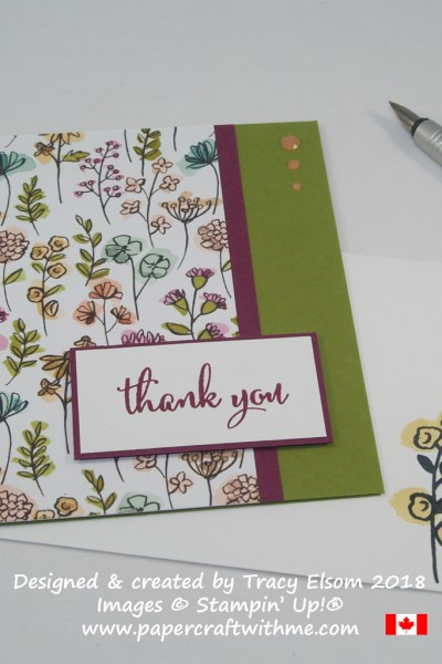 Thank you card created using the Love What You Do Stamp Set from Stampin' Up!
