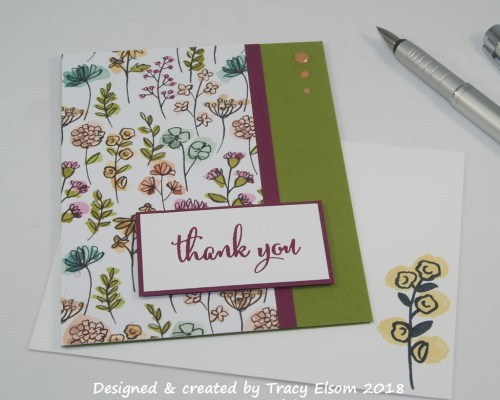 1536 Floral Thank You Card