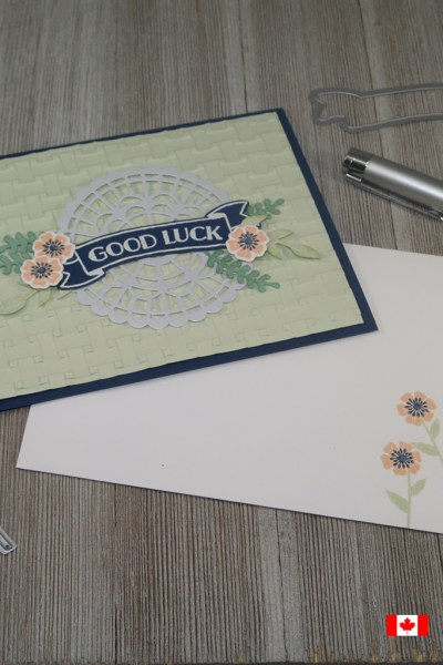 Good luck card created using the Banners for You and Beautiful Bouquet Stamp Sets from Stampin' Up!