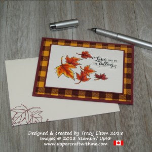 Masculine anniversary card created using the Buffalo Check, Blended Seasons and Beautiful Bouquet Stamp Sets from Stampin' Up!