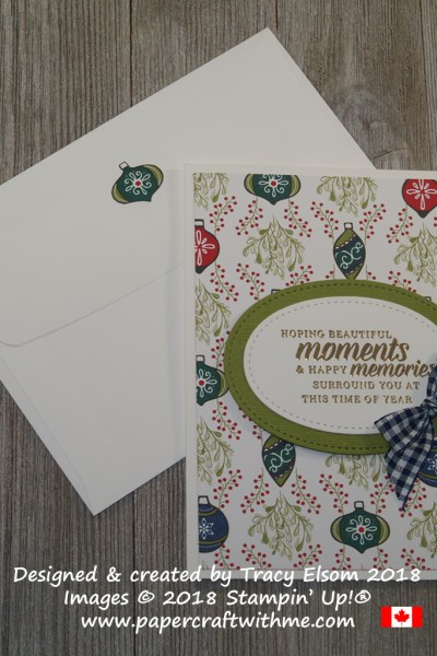 Beautiful moments Christmas card created using the Timeless Tidings Stamp Set from Stampin' Up!