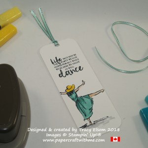 Bookmark created using the Beautiful You Stamp Set and Stampin' Blends alcohol markers from Stampin' Up!