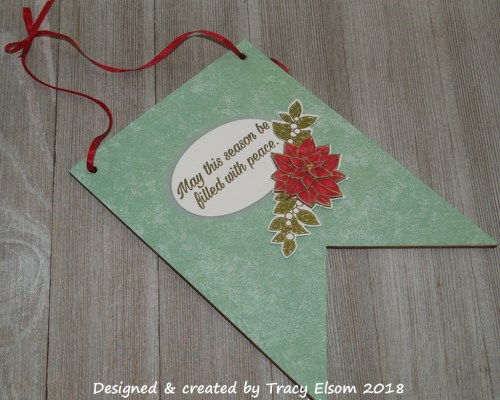 FP16 Christmas Poinsettia Flag Decoration