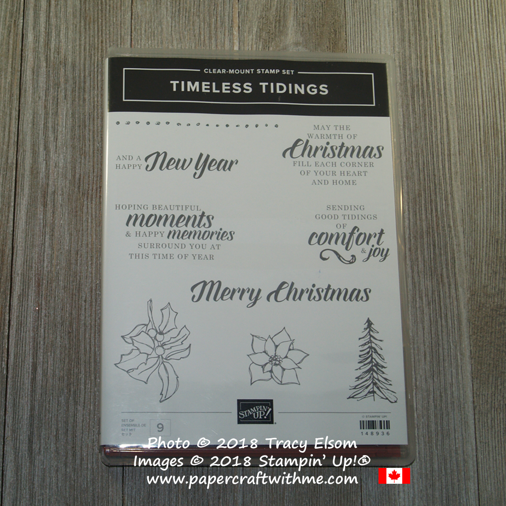 Timeless Tidings Stamp Set from Stampin' Up! available 5th September.