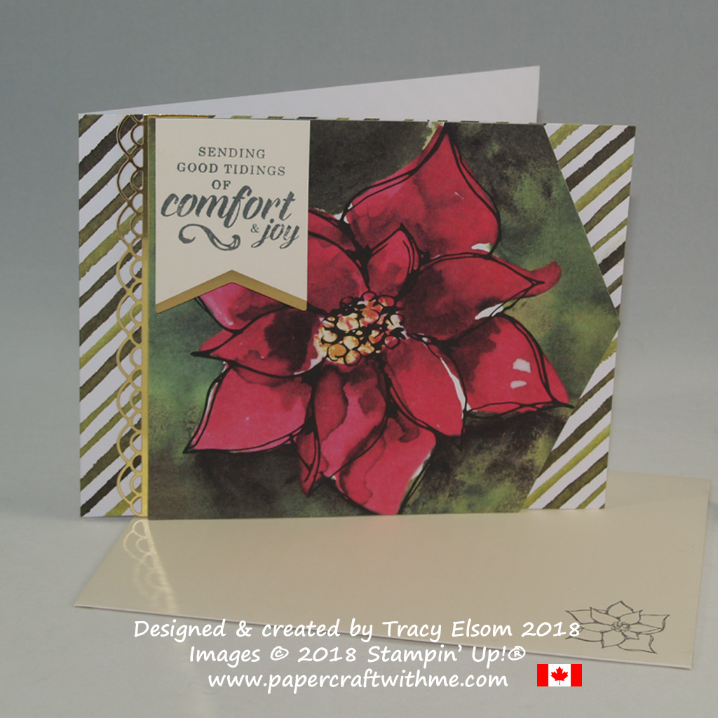 Alternate Christmas card design created using the Timeless Tidings Project Kit and Timeless Tidings Stamp Set from Stampin' Up!