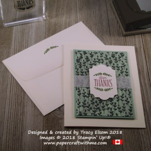 Give thanks sentiment from the Labels To Love Stamp Set in two colours using Stampin' Write Markers.