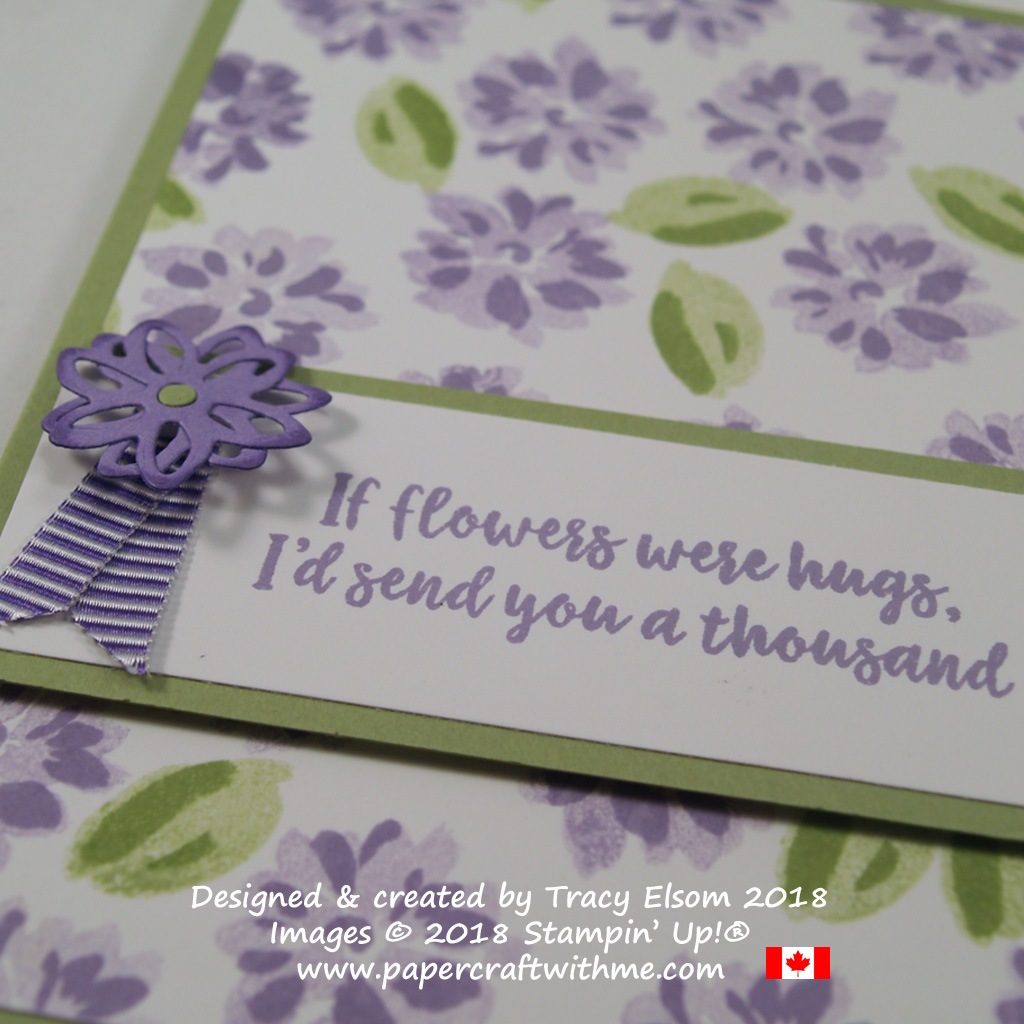 Close up of If Flowers Were Hugs card created using the Abstract Impressions Stamp Set from Stampin' Up!