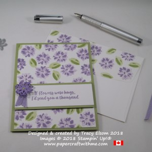 If Flowers Were Hugs card created using the Abstract Impressions Stamp Set from Stampin' Up!