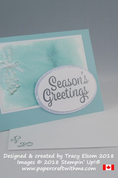 Shimmer Paint and Snowflake Sentiments
