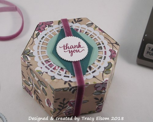 BB44 Hexagonal Box Thank You