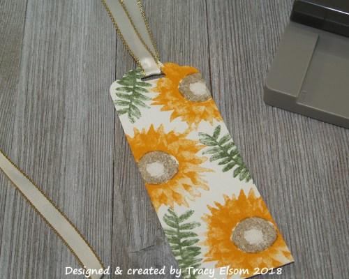 BM197 Textured Sunflower Bookmark