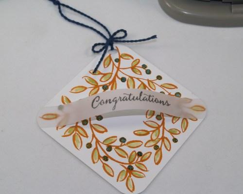 Arched Congratulations Wreath Tag