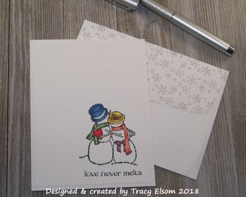 1555 Snow Couple Card