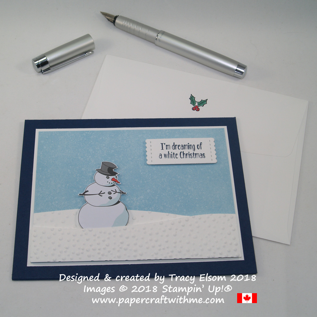 This humorous white Christmas card was created for wine drinkers using the Half Full Stamp Set and Santa's Workshop DSP from Stampin' Up!