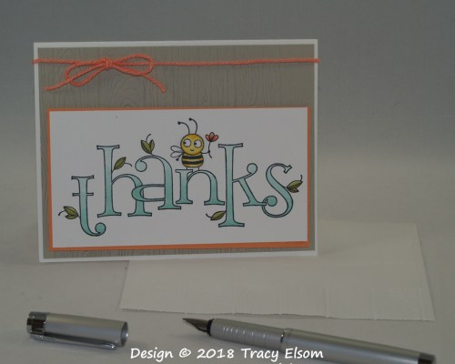 1624 Thanks (Bee Thankful) Card