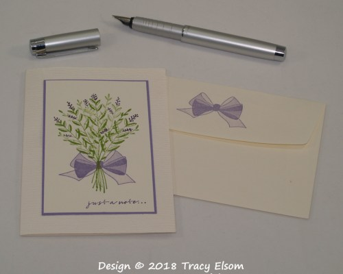 1627 Lavender Bouquet Notecard