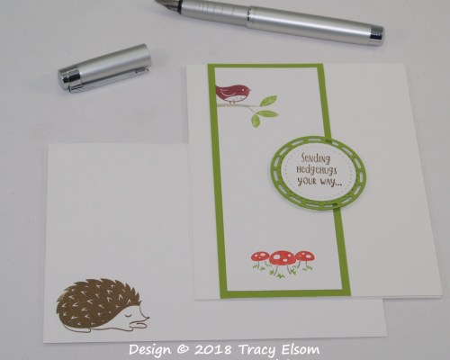 1628 Hedgehugs and Toadstools Card