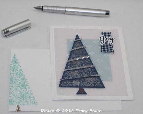 1638 Snowflake Tree Card