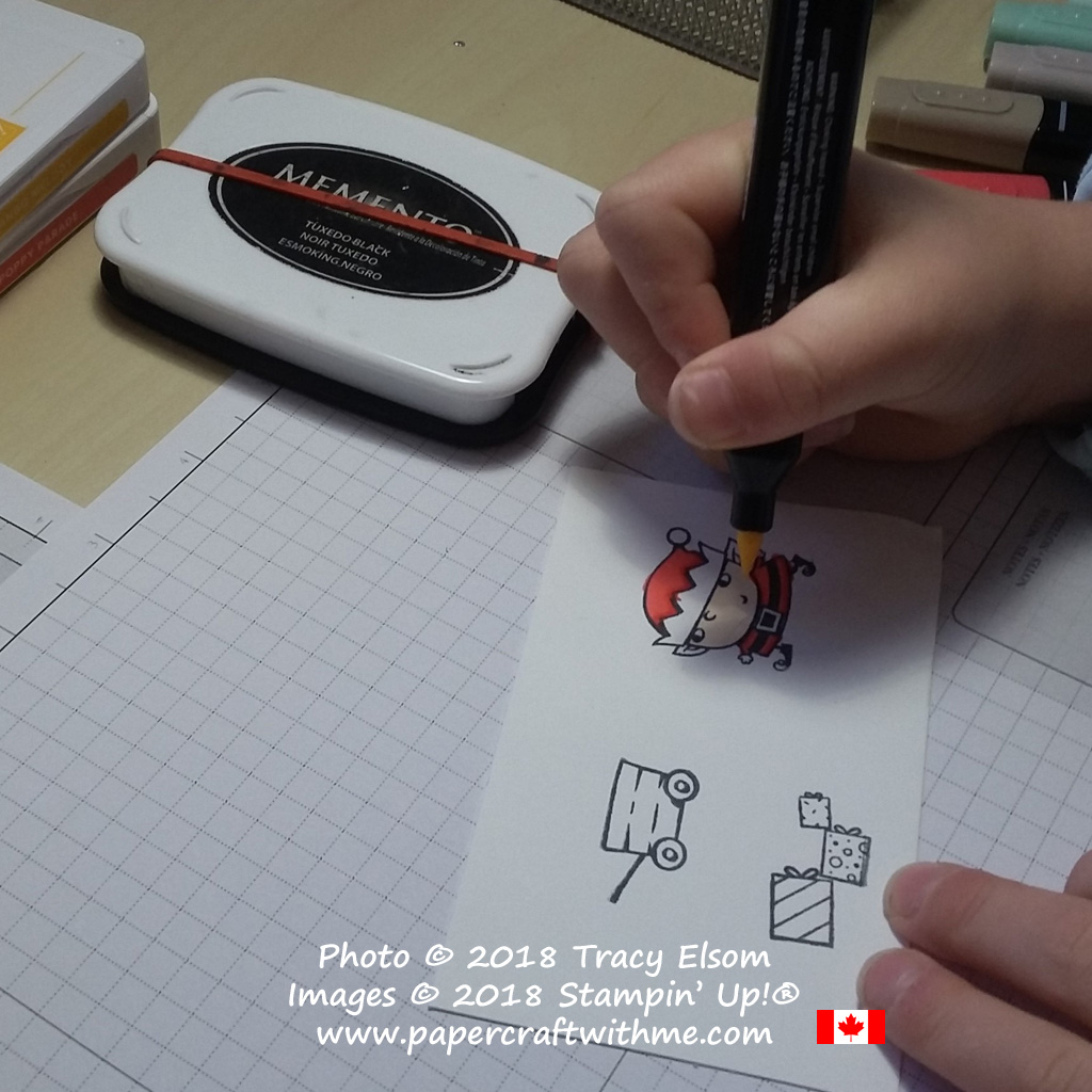 Colouring images from the Signs of Santa Stamp Set with Stampin' Blends alcohol markers from Stampin' Up!