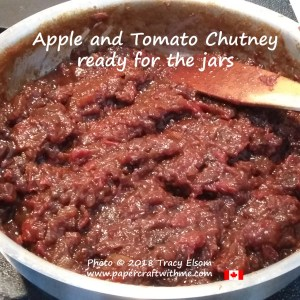 Apple and Tomato Chutney all cooked and ready for the jars.