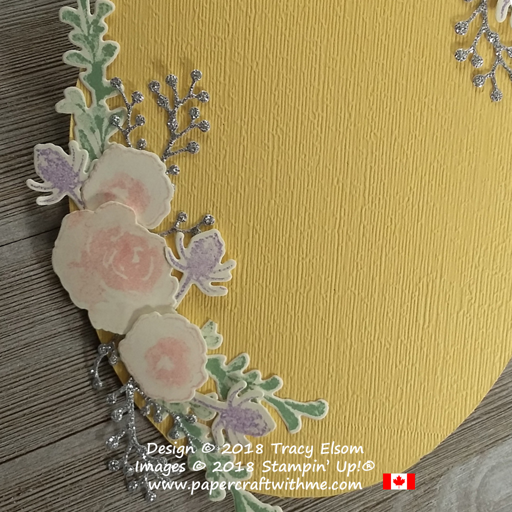 Floral spray created using the First Frost Stamp Set and Frosted Bouquet Framelits from Stampin' Up!