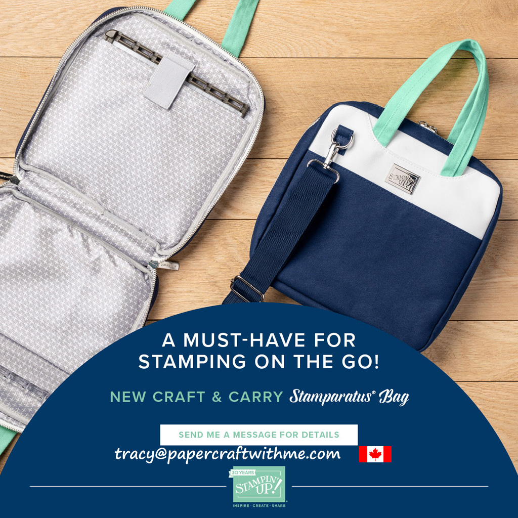 From December 5, 2018 get this stylish bag specially designed to carry the Stamparatus and accessories from Stampin' Up!