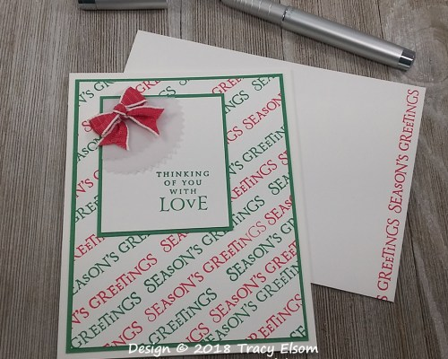 1663 Seasons Greetings Thinking of You Card