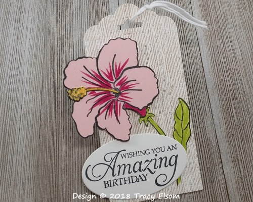 Hibiscus Gift Tag