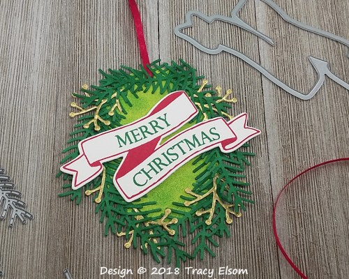 Oval Wreath Tag