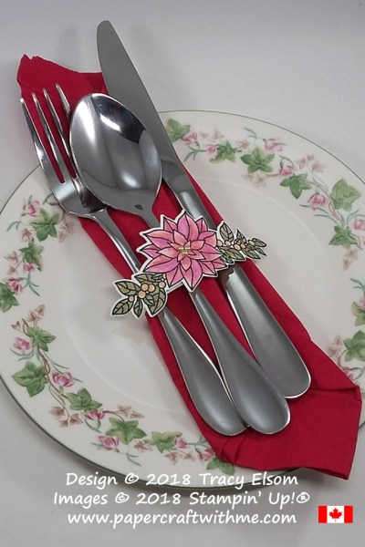 Silverware Wrap for the Christmas Table