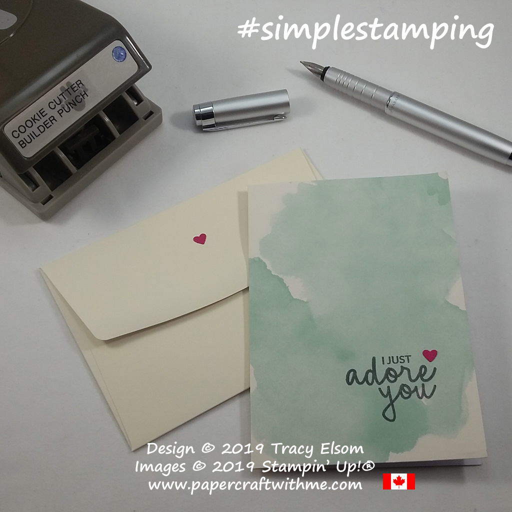 Simple Valentine's card created with Delightfully Detailed Notecard and Incredible Like You Stamp Set from Stampin' Up!