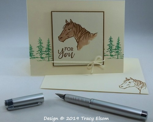 1684 Horse Head For You Card