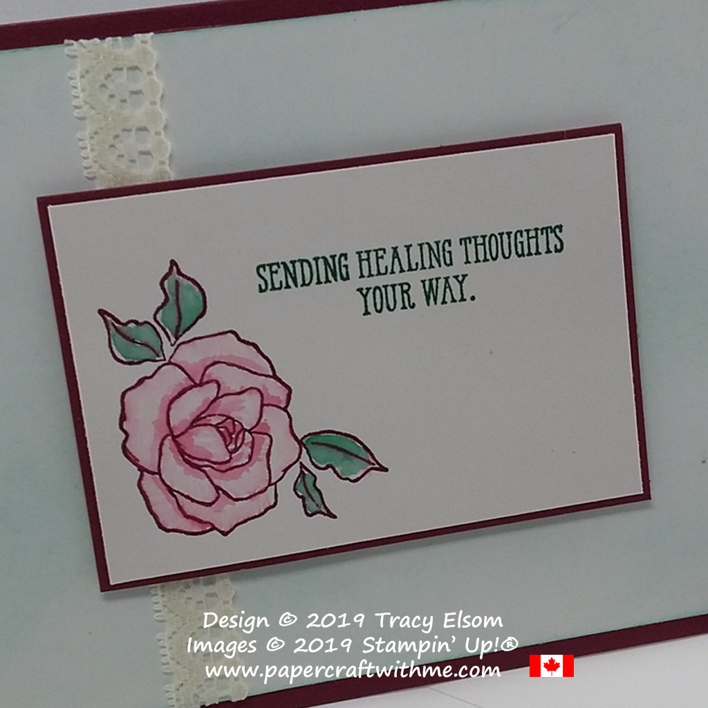 Close up of get well card created using the Tea Together and Well Said Stamp Sets from Stampin' Up!