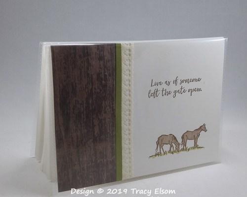 P46 Grazing Horses Photo Album
