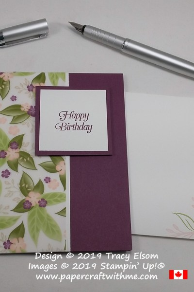 #SimpleStamping birthday card created with the All That You Are Stamp Set and Floral Romance printed vellum from Stampin' Up!